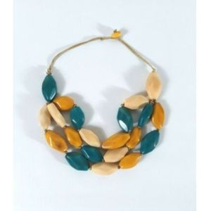 TAGUA Nut Necklace Triple Layered Handmade